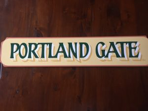 Ron's sign Portland Gate